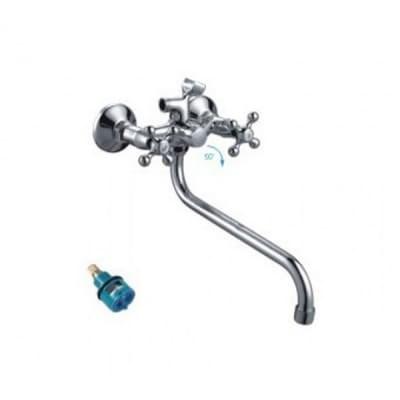 Смеситель для ванны и умывальника 1/2 кер 2208-2F FRAP картридж перекл - фото 28635
