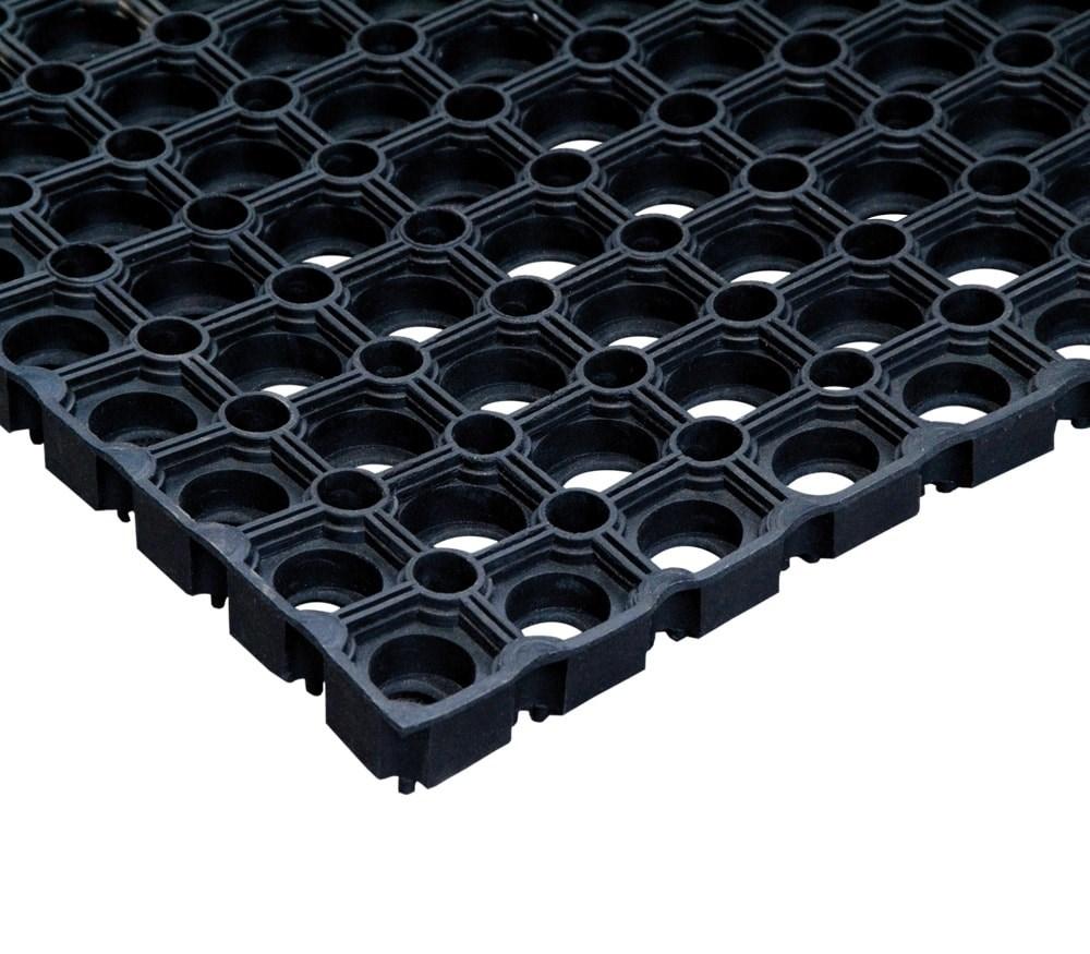 Ячеистый резиновый коврик 100х150 см - 16 мм CleanWill - фото 5467
