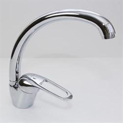 Смеситель для кухни 40k MIXLINE ML05-032 высокий излив боковая ручка - фото 4628