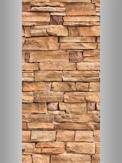 Панель ПВХ камень декоративный терракот  6,75м2  0,25х2,7х0,008 (№344) - фото 5043