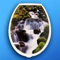 Сиденье для унитаза  Универсал Декор  Водопад - фото 5058