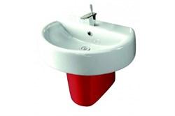 Умывальник  Best-55  с полупьедесталом  Best Red  (Sanita Luxe) - фото 5077
