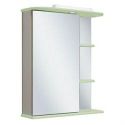 Шкаф зеркальный навесной  Магнолия 60  /левый/ салатовый - фото 5369