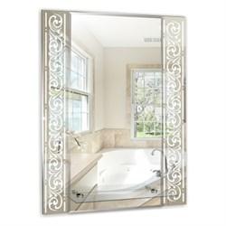 Зеркало MIXLINE  Сахара  540*680 полка/фацет/пескоструйный рисунок - фото 5514
