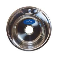 Мойка круг d 49 (0,8) вып 3 1/2 MIXLINE (глуб чаши 18см) с сифоном - фото 6744