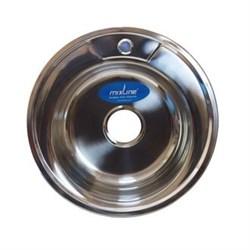 Мойка круг d 49 (0,6) вып 3 1/2 MIXLINE (глуб чаши 17см) с сифоном - фото 6746