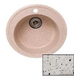Мойка кухонная Ring d50см /светло-серая/+Слив-перелив - фото 6756