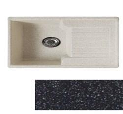 Мойка кухонная Tetra 620*500 /серая/ универсальная+Сифон Grand 3 1/2  с круглым переливом и винтом - фото 6758