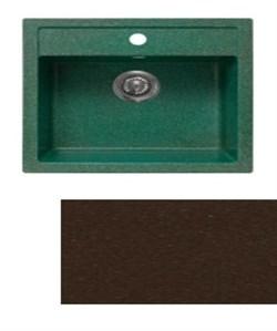 Мойка кухонная Plaza 510*515 /шоколад/+Сифон Grand 3 1/2  с круглым переливом и винтом - фото 6761