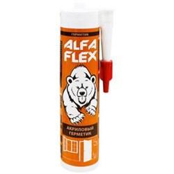 Герметик акриловый «ALFA Flex» белый, 280 мл - фото 6778