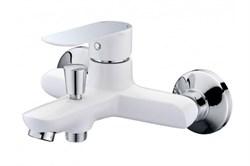 16304 Смеситель Triton для ванны, короткий излив, однорычажный, белый - фото 7095