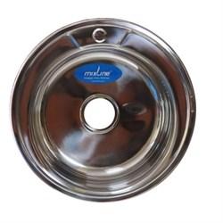 Мойка круг d 51 (0,6) вып 3 1/2 MIXLINE (глуб чаши 17см) с сифоном - фото 7229