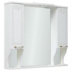 Шкаф зеркальный навесной  Кантри 85  /белый/ - фото 7263