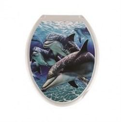 Сиденье для унитаза  Универсал Декор  Дельфин - фото 7899