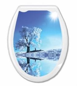 Сиденье для унитаза  Универсал Декор  Белое дерево Европласт - фото 7901