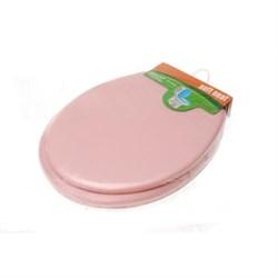 Сиденье для унитаза мягкое (розовое) - фото 8256