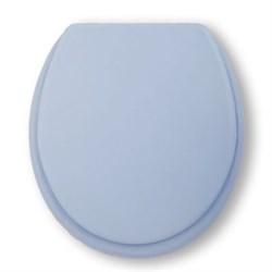 Сиденье для унитаза мягкое (голубое) - фото 8258