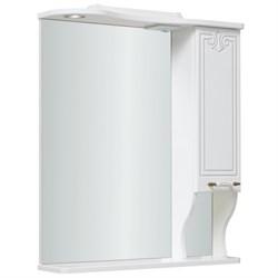 Шкаф зеркальный навесной  Кантри 75  /правый//белый - фото 8583