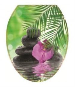 Сиденье для унитаза  Универсал Декор  Орхидея - фото 8709