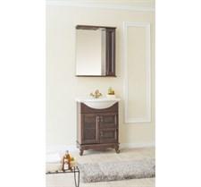 Зеркало Валенсия 60 С со шкафчиком (орех)