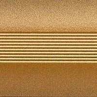 Узкий стык 25 мм 1,8 м анод золото мат