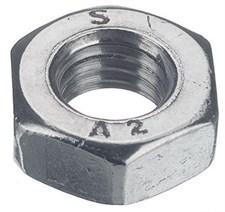 Гайка шестигранная DIN 934  М  6 нерж. А2 (100 шт)
