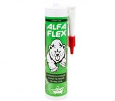 Герметик силиконовый санитарный «ALFA Flex» прозрачный, 280 мл