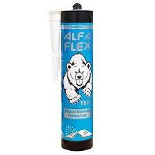 Герметик каучуковый прозрачный, Alfa Flex водостойкий, 300 мл