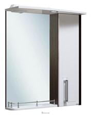 Шкаф зеркальный навесной  Руно Гранада 60  /венге-белый/