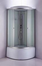 Душ.каб. NG- 2309-14 (1000х1000х2150) высокий поддон стекло МАТОВОЕ 4 места
