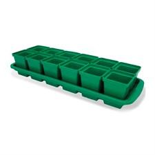 Ящик для рассады 12 горшков (200 мл, 47см×15см×9см) Кактусница Урожай-12