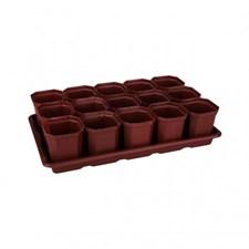 Ящик для рассады 15 горшков (410мм×235мм×90мм) Классик 3 (М1007)