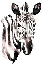 Картина на досках 40х60 см Голова зебры, 4680009856608