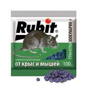 СРЕДСТВО ОТ КРЫС И МЫШЕЙ  ЗООКУМАРИН+  ГРАНУЛЫ (ОРЕХОВ.) 100 Г (50)  RUBIT
