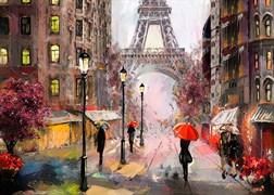 Постер на МДФ 25х35 см Осень в Париже, 4630055121175