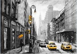 Постер на МДФ 25х35 см Нью-Йорк, 4630055121182