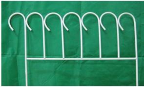 Забор  Зиг-Заг  4секции белый Т191