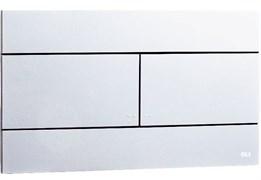 659044 Панель механ. двойная SLIM, пластик, хром глянцевый, Oliveira