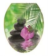 Сиденье для унитаза  Универсал Декор  Орхидея Росспласт