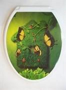 Сиденье для унитаза  Универсал Декор  Бабочка на траве Росспласт