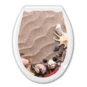 Сиденье для унитаза  Универсал Декор  Песок Европласт