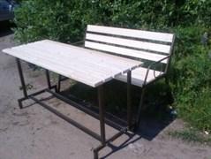 Стол дерево+металл ХТ7456