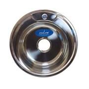 Мойка круг d 49 (0,8) вып 3 1/2 MIXLINE (глуб чаши 18см) с сифоном
