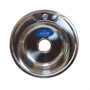 Мойка круг d 49 (0,6) вып 3 1/2 MIXLINE (глуб чаши 17см) с сифоном