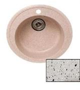 Мойка кухонная Ring d50см /светло-серая/+Слив-перелив