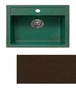 Мойка кухонная Plaza 510*515 /шоколад/+Сифон Grand 3 1/2  с круглым переливом и винтом