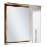 Шкаф зеркальный навесной  Зебрано 60