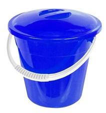 Ведро пластмассовое 6л  Элегия  (пищевое) с крышкой (04106)