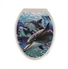 Сиденье для унитаза  Универсал Декор  Дельфин