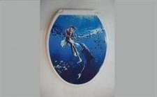 Сиденье для унитаза  Универсал Декор  Девушка с дельфином